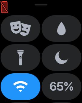 アップルウォッチ iPhone非接続 コントロールセンター