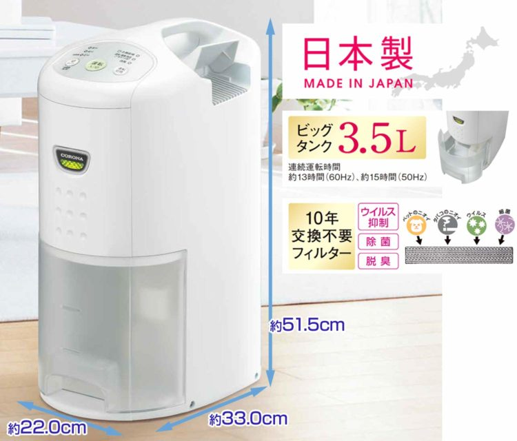 浴室,換気扇がない,除湿器