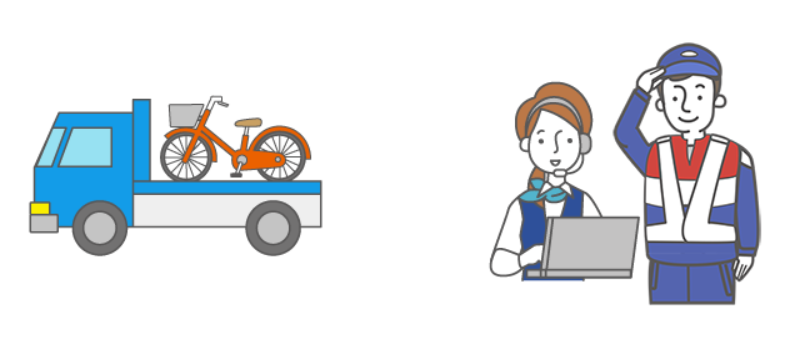 au自転車サポート,ロードサービス,自転車事故現地サポート